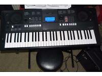 Yamaha Keyboard E-423 series, Stand, Music-sheet rest, Adaptor, ready to go!