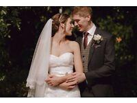 Wedding Dress + Veil - Size 8