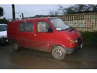 VW T4 Caravelle 1994 2.4 diesel sale for spares/repair. MOT Jan'17