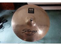 """Stagg 22"""" Ride Cymbal and Mapex Stand"""