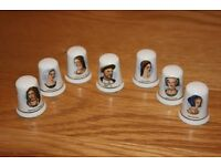 COLLECTORS THIMBLES OF HENRY VIII & HIS SIX WIVES