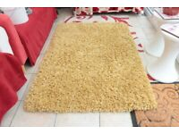 Chunky Knit Rug 100cm x 150cm - Yellow   Ochre