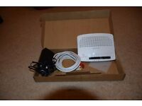 Plus net Wireless Router. Boxed and complete with instructions. Simple easy set up.