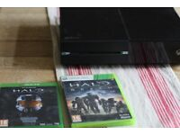 Xbox One 500gb with Halo games (All leads and controller)