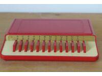 Vintage Bakelite / Plastic (?) Collectible: Flip-Up A-Z Desk Top Telephone Number Directory Index.