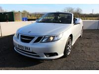 09 SAAB 9-3 1.9 TID 150 VECTOR SPORT CONVERTIBLE ++ FULL YEARS MOT, HEATED LEATHER & 45+ MPG ++