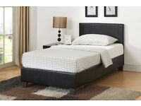 ★★ BRAND NEW ★★ SINGLE BED 3FT★ PRADO FAUX LEATHER BED ALSO IN DOUBLE 4FT6 KING SIZE 5FT
