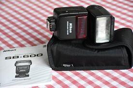 Nikon SB600 iTTL Flash Unit