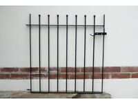 Good quality, new, galvanized and black powder coated garden gate with fixings.