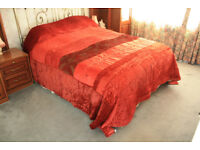 Quilted Bedspread - King Size. Lovely condition in red