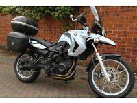 "BMW650GS with factory lowered suspension and seat. Ideal for under 5'10"" rider."