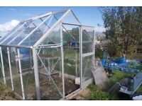 Greenhouse 8x6 with toughened glass
