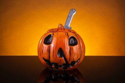 Halloween Tiki Mug Mondo Michael Myers Pumpkin Orange Jack-o-Lantern Limited Ed. (Halloween Michael Myers Jack O Lantern)