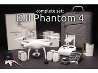 FLY MORE: DJI Phantom 4 set: 3 batteries, carrying bag, ND/pol filters, range extender, hood...