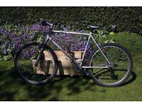 "ROCKSHOX mens bike 21"" frame size suspension bike"