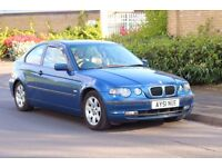 BMW 320D Compact Automatic, Diesel, Blue, Leather interiour