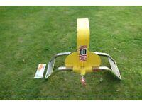 Bulldog wheel clamp for campervan or caravan
