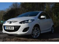 Superb Condition! 2011 5DR MAZDA 2 TAMURA 1.3L. UNDER 20,000 MILES!!! Pearlescent White. One Owner.