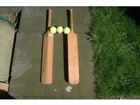 Cricket bats/balls