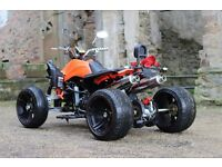 NEW 2016 250CC ORANGE ROAD LEGAL QUAD BIKE ASSEMBLED IN UK 66 PLATE OUT NOW! FREE NEXT DAY DELIVERY