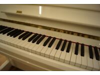 New white Bentley upright piano - Delivery available UK wide