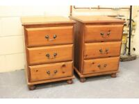 High quality Solid Pine Bedside Tables or Drawers x2