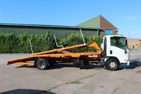 2011 Isuzu N75 190 easy shift (automatic) with a Roger Dyson 2 Car Transporter back.
