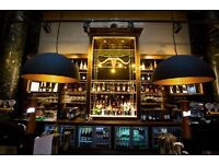 Full Time BAR STAFF for Miller & Carter Steakhouse, St. Vincent Street. Immediate Start!