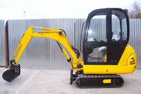 MINI DIGGER & DUMPER FOR HIRE WITH DRIVER
