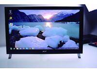 "23"" FullHD 1920x1080 TOUCHSCREEN Acer T231H LED LCD .. HDMI, DVI, VGA +USB, mint condition"