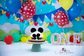 1st or 2nd Birthday Cake smash photoshoot
