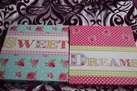 Sweet dreams canvas 8 inch x 8 inch