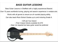 Bass Guitar Lessons - All Genres - FREE FIRST LESSON