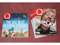 "Bundle of Q magazines ( 9 ) plus Q book ""100 Best Record Covers"""