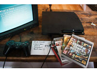 PS3 100GB, GTA-V, BLUR, FLASHPOINT, HARD RAIN