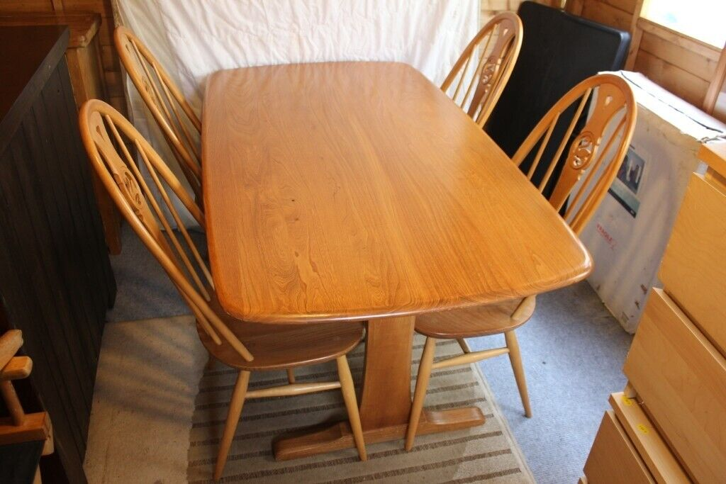 Ercol Windsor Dining Table With 4 Swan Chairs In Torquay Devon Gumtree