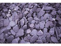 40 mm plum or blue slate chips