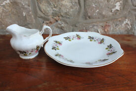 Vintage Royal Tara Sandwich Plate & Milk Jug / Creamer Irish Cake Plate Design + Gilded Ireland