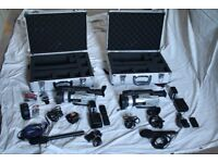 Video Equipment - 2 Cameras, 2 Tripods, 3 Mic Stands
