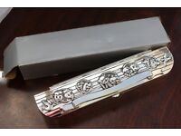 New Silver Plated Birth Certificate Holder Gift