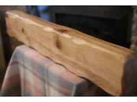 3.5ft Handmade Oak Beam, Oak Mantelpiece, Oak Mantel Shelf, Wood Beam