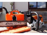 Stihl MS341 chainsaw and bits