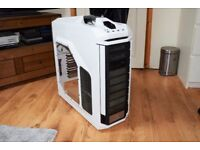 coolermaster stryker computer case in white