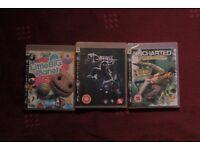 ps3 playstation games bundles: uncharted, darkness, little big planet