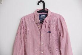 Red Fine Striped Premium Superdry Men's Shirt