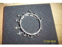 ladies vintage heavy bracelet with cross charms