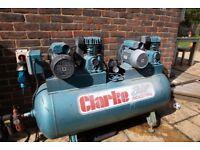 Powerful 28cfm, 270 litre, 230v air compressor
