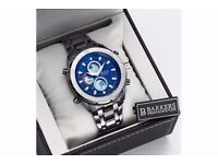 BRAND NEW BARKERS OF KENSINGTON GENTS BLUE WRIST WATCH
