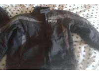 DOJO motorcycle jacket with matching trousers good condition