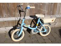 Beautiful Raleigh Bluebird vintage child's bike VGC with original accessories